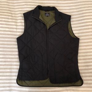 J. Crew Factory Black Quilted Vest